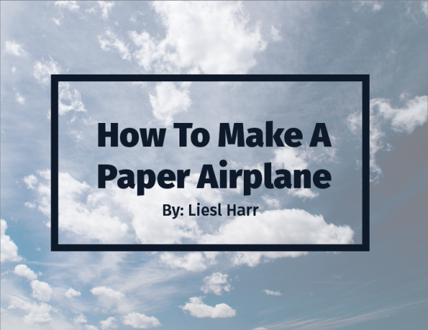 Paper Airplanes Process Book